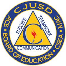 CJUSD Unified School District - board of education logo